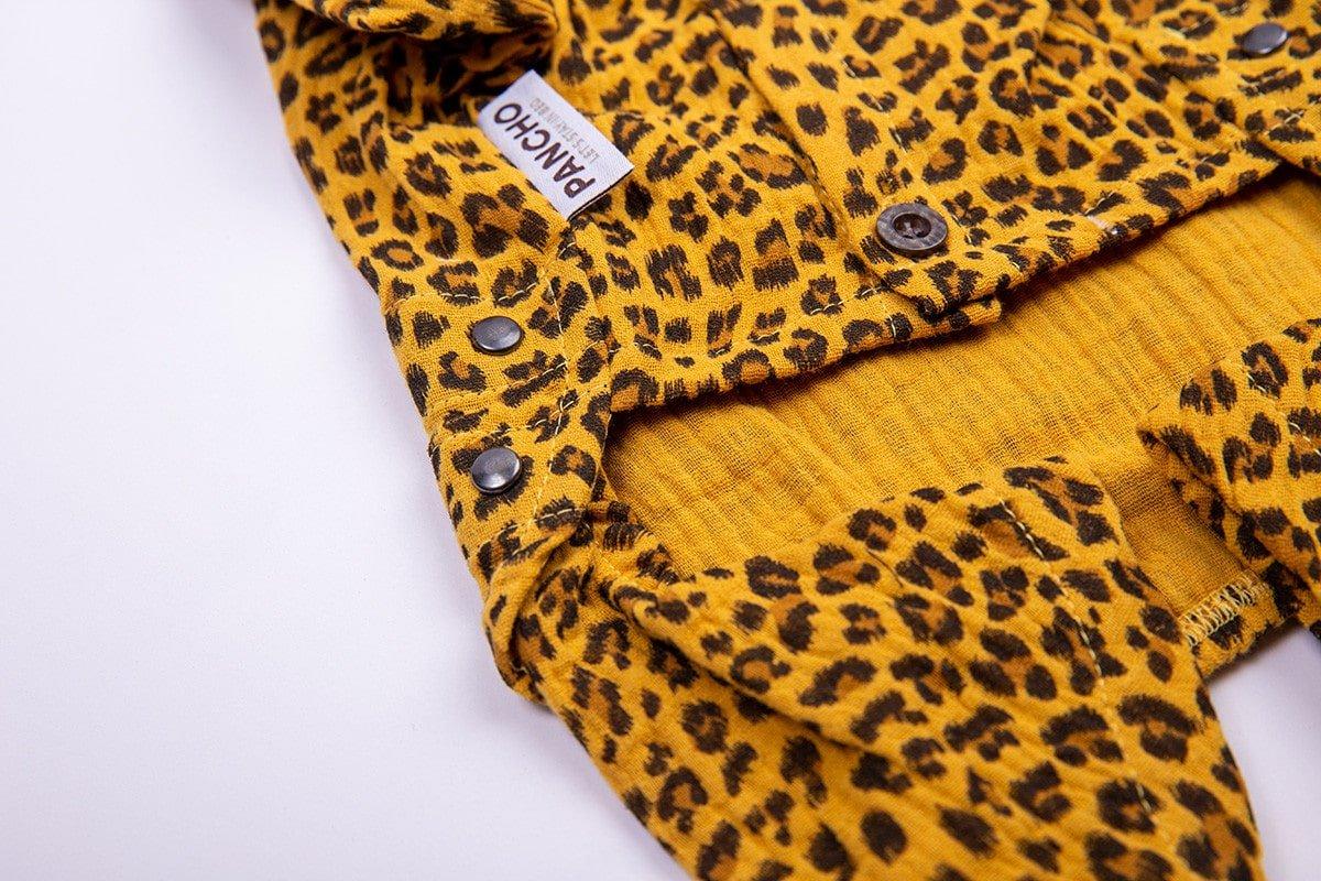 Oblacila za pse Pancho chihuahua pasja pizama leopard 3