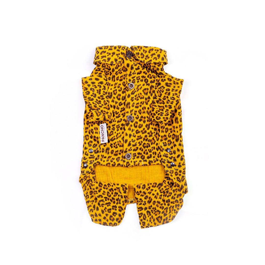 Oblacila za pse Pancho chihuahua pasja pizama leopard 4