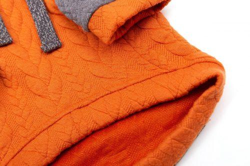 Oblačilo za pse Pancho pasja obleka Kapucar oranžen