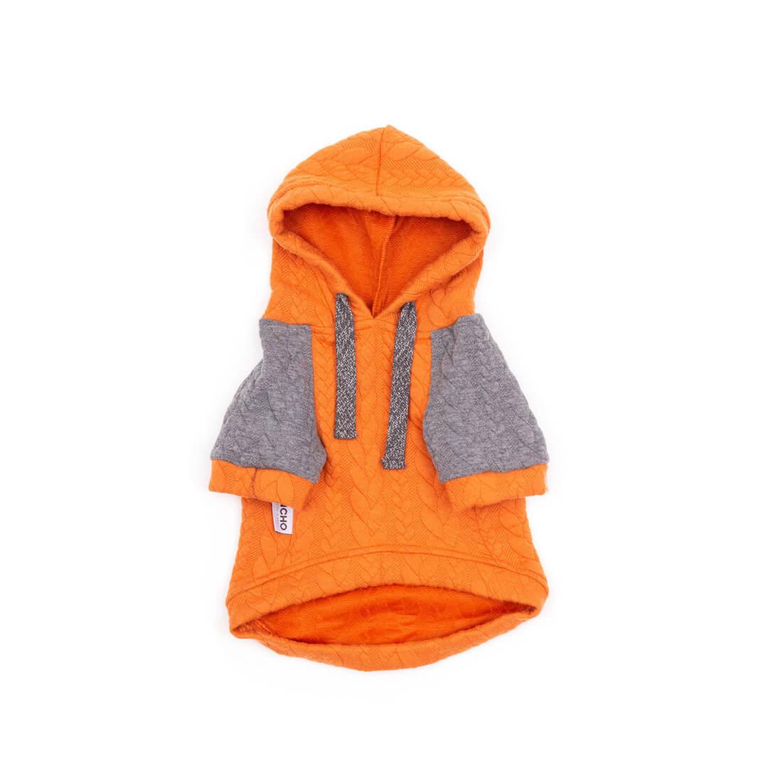 Oblačilo za pse Pancho pasja obleka Kapucar oranžen 1