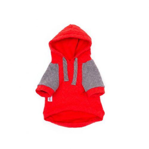 Oblačilo za pse Pancho pasja obleka Kapucar rdeč