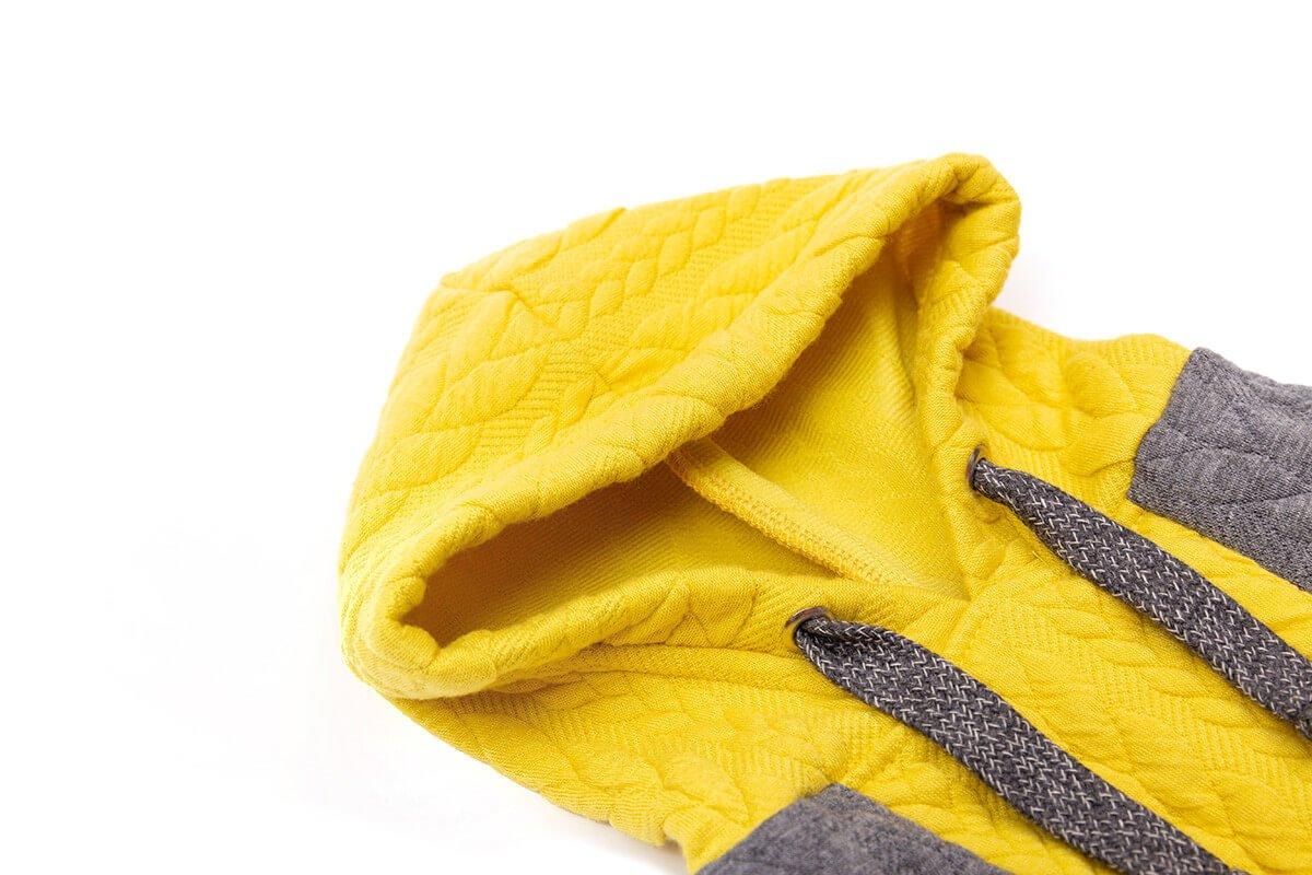 Oblačilo za pse Pancho pasja obleka Kapucar rumen