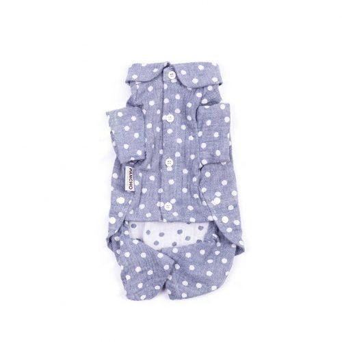 Oblačilo za pse Pancho pasja obleka pizama Pika modra