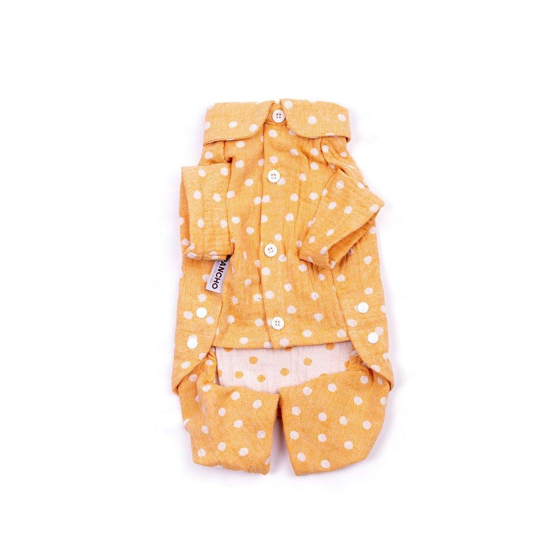 Oblačilo za pse Pancho pasja obleka pizama Pika rumena