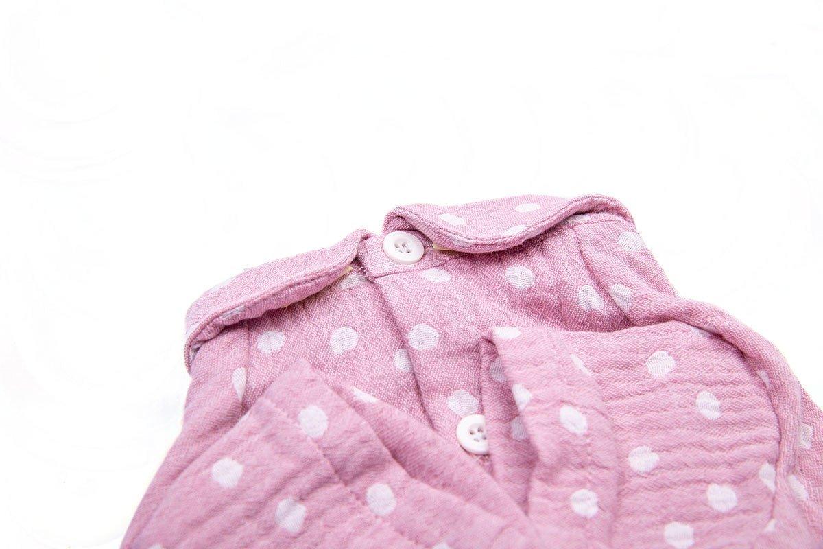 Oblačilo za pse Pancho pasja obleka pizama Pika roza 1